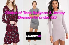 Buy Teen Jersey dress or Bodycon dresses online from Irish fashion website, Fashion.ie. Dresses from River Island, PrettyLittleThing and H&M
