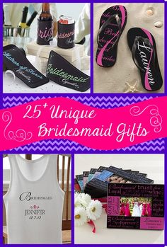 25+ Unique Bridesmaid Gift Ideas. This site is awesome and has tons of great ideas for weddings. Pin now, read later!