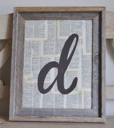 Embellish Mod Podged pages from mom's favorite book with a hand-painted monogram and frame for a gorgeous and inexpensive gift. Get the tutorial at The Teacher Mama.   - CountryLiving.com