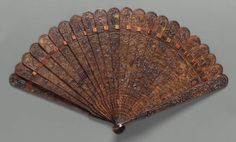 Brisé fan  Chinese for export, Qing Dynasty, late 18th–early 19th century