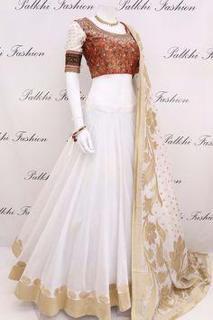 Elegant Full Flair Chaniya Choli With Hand Work Blouse & Georgette Dupatta Indian Fashion Dresses, Indian Gowns Dresses, Dress Indian Style, Indian Designer Outfits, Pakistani Dresses, Indian Outfits, Designer Dresses, Indian Wear, Punjabi Dress