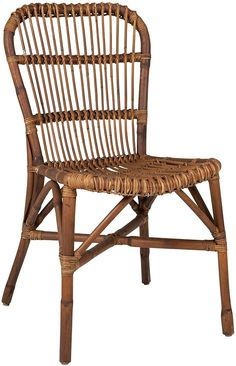 Amazon.com - EAST at MAIN Amara Dining Side Chair, Antique Brown - Chairs Room Chairs, Side Chairs, Woven Dining Chairs, Best Dining, Wood And Metal, Rattan, Antiques, Brown, Furniture