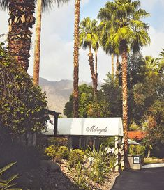 Famous Melvyn's restaurant in Palm Springs popular by many Hollywood stars.
