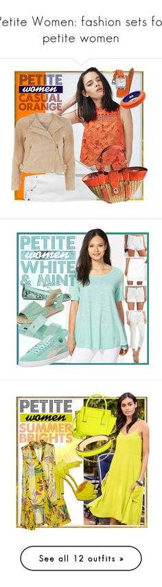 """Petite Women: fashion sets for petite women"" by geewhizart ❤ liked on Polyvore featuring Topshop, Hermès, Dsquared2, Lands' End, Dorothy Perkins, Coach, Bebe, Eileen Fisher, Ruby Rd. and Croft & Barrow"