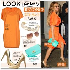 Get the Look for Less-Beyonce by kusja on Polyvore featuring moda, Jijil, Charlotte Russe, BCBGMAXAZRIA, maurices, LookForLess, Beyonce, celebstyle and celeblookforless