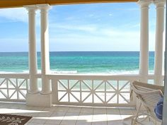 Carillon Beach house rental - Beachfront view off balcony