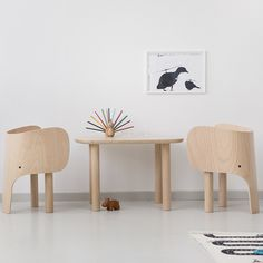 Give your child's room a welcoming look with our Elements Optimal Elephant Table. Our Children's Table match perfectly with the elephant chairs. Elephant Table, Pierre Frey, Kids Seating, Kid Table, Kids Decor, Home Decor, Zara Home, Table And Chairs, Kids Furniture