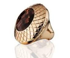 Bronze ring from the Melrose collection with a faceted citrine stone by #Rebecca