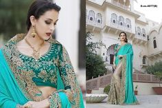 Saree Designer Party Wear Wedding Indian Pakistani Sari Bollywood Ethnic Lehenga #Handmade #DesignerbollywoodExclusivesaree