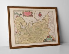 Old Map of Russia, North East, originally created by Willem Janszoon Blaeu, now available as a 'museum quality' wall hanging print. Historical Maps, Antique Maps, Samara, Perm, Travel Posters, Giclee Print, Vintage World Maps, Russia, Museum