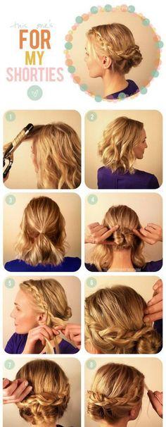 Fryzury na krótkich włosach krok po kroku