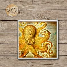 ON SALE Drink Coasters Octopus Under The Sea by WoodlandCrew