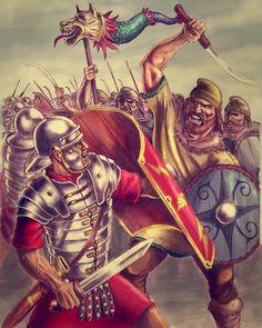 Trajan's Dacian Campaign, by Popius on DeviantArt History Of Romania, Rome History, Ancient History, Wolf Warriors, Roman Warriors, Ancient Rome, Ancient Art, Imperial Legion, History Tattoos