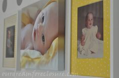 Neat idea to have Mom & Dad's baby pics beside the new one's