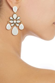 ODLR White Chandelier Earrings