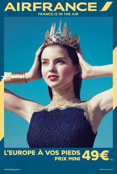 air france travel 2014 campaign2 Air Frances New Campaign Takes You on a Fashionable Tour