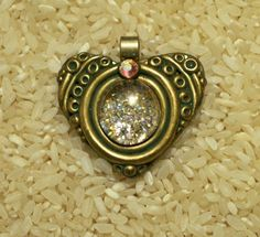 Renaissance Heart - polymer clay pendant by Sweet2Spicy, via Flickr
