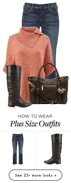 """Untitled #13304"" by nanette-253 on Polyvore featuring Silver Jeans Co., CAbi, MICHAEL Michael Kors and Golden Goose"