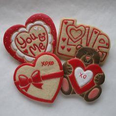 Valentine Sugar Cookies ~ Lightly Decorated ~