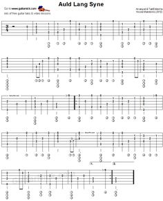 Auld Lang Syne - fingerstyle guitar tablature