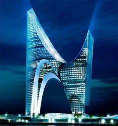 Skyscraper for Gazprom City, St. Petersburg Architecture - ☮k☮ Unusual Buildings, Interesting Buildings, Amazing Buildings, Modern Buildings, Architecture Design, Futuristic Architecture, Beautiful Architecture, Russian Architecture, Famous Architecture