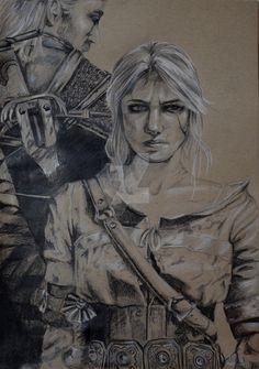 Geralt and Ciri by Hollywolly09 on @DeviantArt