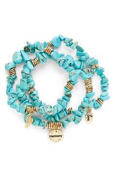 Stone Stretch Bracelets (Set of 3)