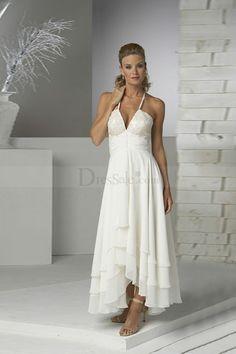 Love this simple beach wedding dress rayban sunglasses for Hawaiian wedding dresses informal