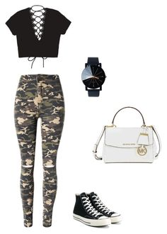 """Swag"" by nanidw on Polyvore featuring WithChic, Converse and Michael Kors"
