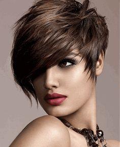 Comfortable Vogue Handmade Short Straight Asymmetric Human Hair