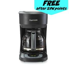 Sears: FREE Kenmore 12 Cup Programmable Coffee Pot - Couponing to Disney