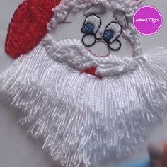 Bordado Santa Claus – Welcome My World Hand Embroidery Design Patterns, Ribbon Embroidery Tutorial, Christmas Embroidery Patterns, Crewel Embroidery Kits, Basic Embroidery Stitches, Hand Embroidery Videos, Flower Embroidery Designs, Creative Embroidery, Embroidery Flowers Pattern