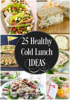 25 Delicious and Healthy Cold Lunch Ideas - Whether you are heading out for a picnic or just want a quick, easy and delicious lunch idea, these recipes are sure to do the trick.