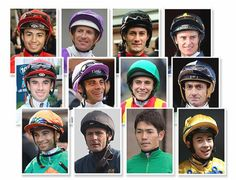 Line up of jockeys for the Longines  International Championship at Happy Valley 07.12.2016