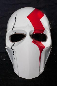 Gas Mask Art, Masks Art, Oni Mask, Skull Mask, Helmet Design, Mask Design, Paintball Mask, Cool Airsoft Masks, Army Of Two