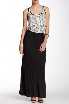 Pomona Printed Upper Maxi Dress