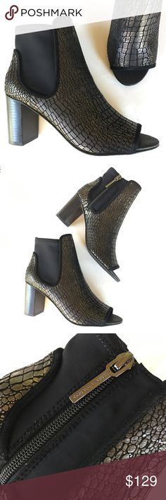 NEW DONALD J PLINER open toe ankle boots booties B Donald J. Pliner Shoes Ankle Boots & Booties