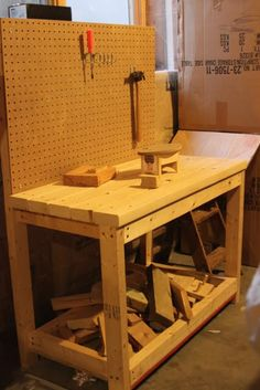 I love the idea of having a table that grows with his tool ability!