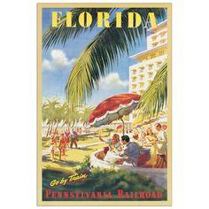 FLORIDA - Florida go by train 60x90 cm #artprints #interior #design #decorativi #decorative #art #prints  Scopri Descrizione e Prezzo http://www.artopweb.com/categorie/decorativi/EC20421