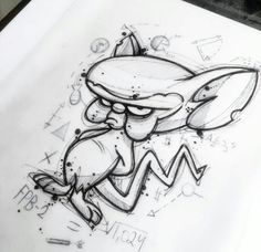 Dark Art Drawings, Art Drawings Sketches, Disney Drawings, Cute Drawings, Graffiti Art, Graffiti Drawing, Cartoon Sketches, Cartoon Art, Graffiti Characters