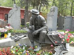 {Grave} Yuri Vladimirovich Nikulin - Russian comic actor & clown, He was also the theatrical manager of the old Moscow Circus which is now referred to as Nikulin Circus in his honor #RIP #grave #headstone #cemetery