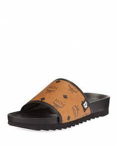 MCM Men'S Visetos Slide Sandal. #mcm #shoes #sandals
