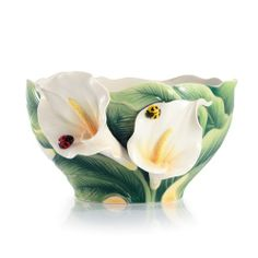 Happy Reunion Calla Lily Porcelain Salad Bowl
