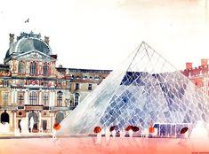 Architectural Watercolor Paintings By Maja Wronska http://designwrld.com/watercolor-paintings-maja-wronska/