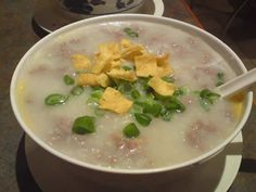 Sliced Beef and Egg Congee Recipe |Chinese Food Recipes 中餐食谱