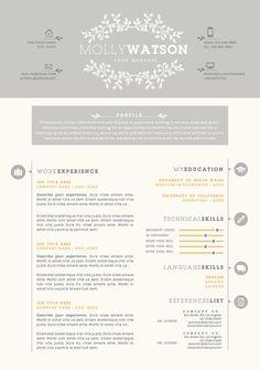 Resume Template  Resume Design Professional Cv  Cover Letter