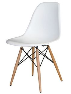 DSW Chair White - Inspired by Charles and Ray Eames Eames Eiffel Chair, Eames Dsw Chair, White Dining Chairs, Dining Chair Set, Side Chairs, Eames Dining, Chair Design, Furniture Design, Kitchen Furniture