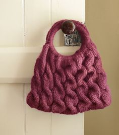 Practice your cabling with this impressive Cable Ready Bag, knit in Wool-Ease Thick & Quick. A perfect summer knit for showing off all through the fall!