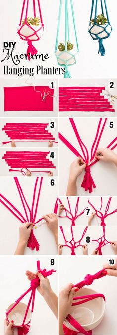 cool Check out how to easily make DIY Macrame Hanging Planters Industry Standard Desi... by http://www.danaz-home-decorations.xyz/home-decor-accessories/check-out-how-to-easily-make-diy-macrame-hanging-planters-industry-standard-desi/