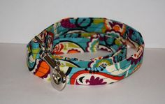 Turquoise Print Dog Leash // Handmade & by PawesomePups on Etsy